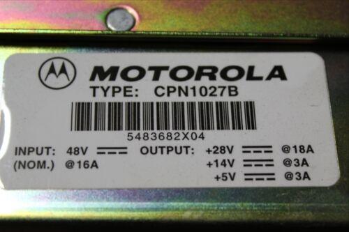 MOTOROLA CELLSITE STATION POWER SUPPLY MODULE CPN1027B CPN-1027-B 48V 16A