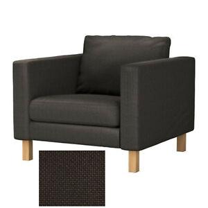 IKEA Karlstad Armchair SLIPCOVER Korndal Brown Cover for ...