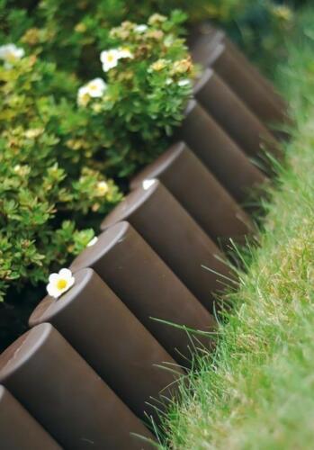 Plastic Garden Fence 2,1m Boarder Lawn Palisade Edge Patio Fencing BROWN AL5