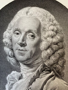 Strong water roslin engraving etching portrait Hyacinthe collin from vermont king france