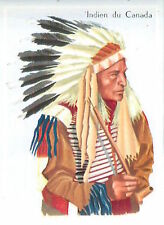 CARD 60s COSTUME TYPE Indien Indigenous peoples Canada Leather clothing Mocassin