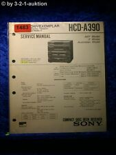 Sony Service Manual HCD A390 Component System  (#1483)
