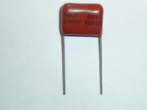 5pcs 2000V 681 J 0.00068uf 0.68nf 680pf P15 CBB81 CBB metal film capacitor