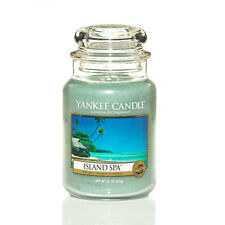 ☆☆ISLAND SPA☆☆LARGE YANKEE CANDLE JAR ☆☆A RELAXING ESCAPE SCENTED CANDLE