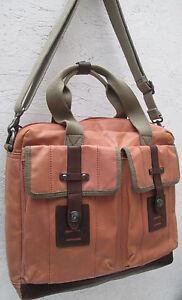 cb0d8e58834 AUTHENTIQUE grand sac besace voyage FOSSIL en TBEG vintage bag