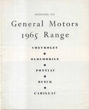 General Motors Chevrolet Oldsmobile Pontiac Buick Cadillac 1965 UK Brochure