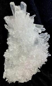 152.2g CLEAR WHITE CHRYSANTHEMUM QUARTZ  CRYSTAL CLUSTER SPECIMEN  Reiki  CHINA