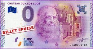 2019 DernièRe Conception Ue Au-1a / Chateau Du Clos Luce / Billet Souvenir 0 Euro / 2015-1 100% D'Origine
