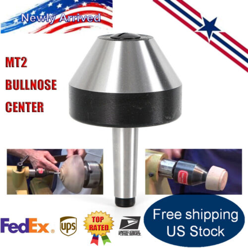 74mm US Alloy Steel  MT2 Bull Nose Live Center Morse Taper #2 for Lathe Dia