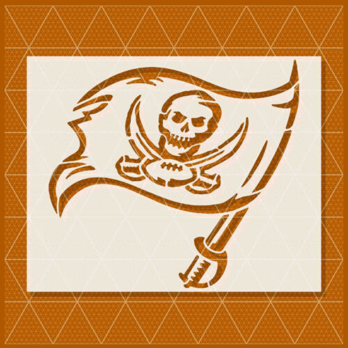 Tampa Bay Buccaneers stencil Template 14x11-11x8.5-5x4 Reusable Mylar