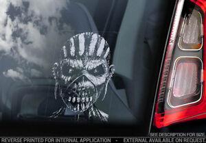 Iron-Maiden-039-Eddie-039-Car-Window-Sticker-The-Book-of-Souls-Mask-Head-v10