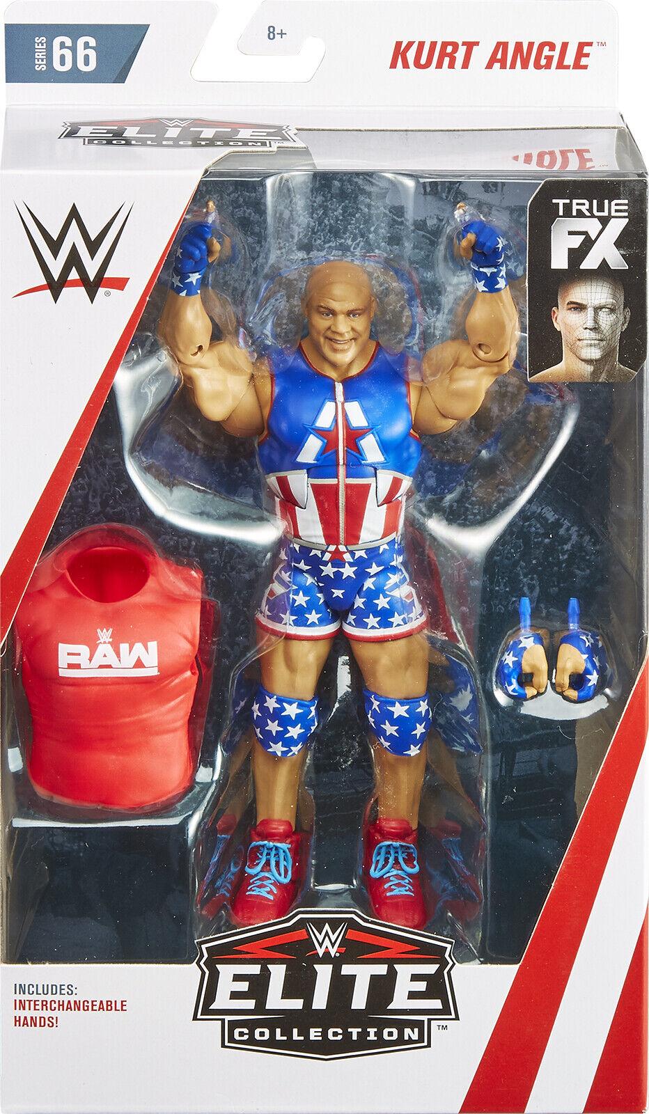 WWE KURT ANGLE NEW FX ACCESSORIES MATTEL ELITE SERIES 66 WRESTLING FIGURE NXT