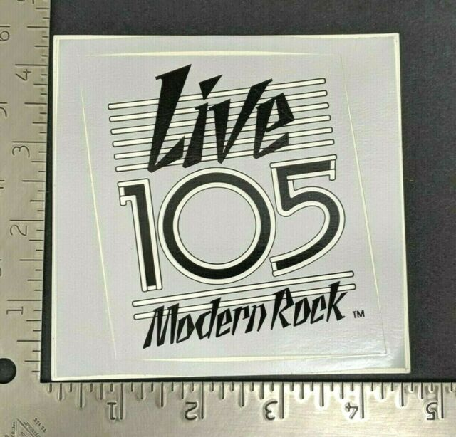 Vintage Radio Station Bumper Sticker The QUAKE FM99 San Francisco