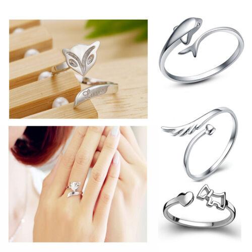 925 Silver Plating Ring Finger Fashion Women Ring Opening Adjustable GIFT Cbeca