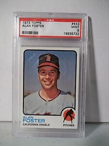 1973-Topps-Alan-Foster-PSA-Graded-Mint-9-Baseball-Card-543-MLB-Collectible