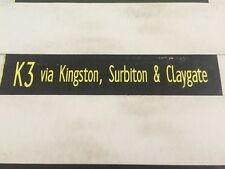 "Tolworth Destination Bus Blind 34""- K3 Kingston Surbiton & Claygate"