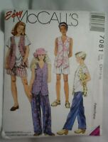Mccall's 7081 Girls Sewing Pattern Sizes 7-8-10 Pants & Top