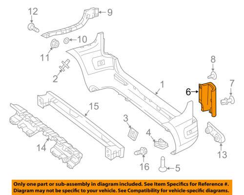 MERCEDES OEM 16-18 Metris Rear Bumper-Corner Cover Right 44788507229B51