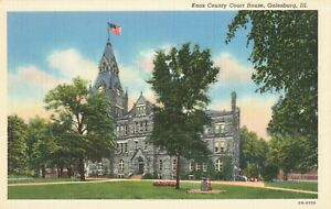 Postcard-Knox-County-Court-House-Galesburg-Illinois