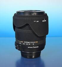 Sigma DC Zoom 18-50mm/2.8-4.5 OS HSM Objektiv lens objectif für Nikon AF - 91871