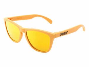 Oakley-Frogskins-Summit-Collection-Sunglasses-24-343-Pike-039-s-Gold-Fire-Iridium
