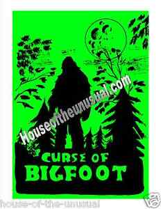 Vintage-CURSE-OF-BIGFOOT-Poster-Only-7-in-existence-signed-by-artist-20x24