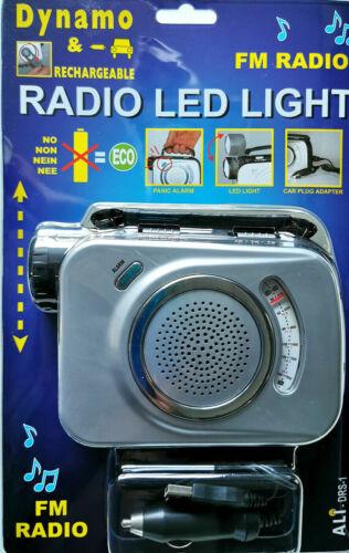 Tragbares Radio Kurbeldynamo LED Lampe Taschenlampe Campingleuchte Dynamoradio