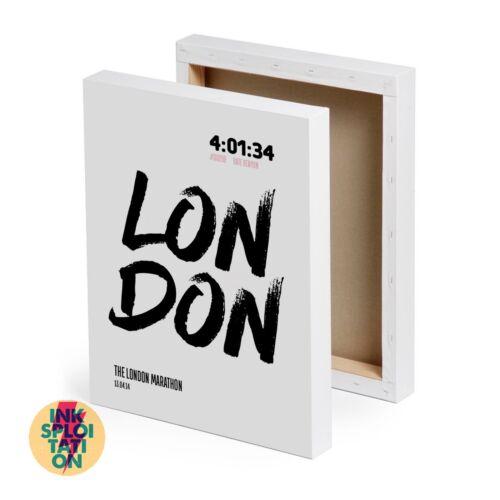 Impresión de detalles de carreras de maratón de Londres personalizado o de lona