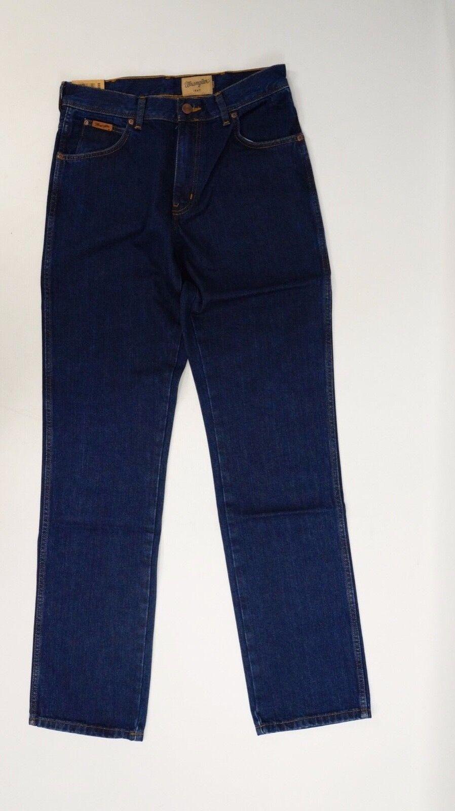 WRANGLER Uomo Jeans Pantaloni Texas Regular Darkstone NUOVO Blu Scuro Taglia 32 36  1347