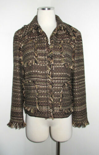 Brown Multi Tweed Jacket St Fringe 6 Striped John Trim 1wqxA5ST