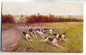 an0604-Fox-Hunting-034-Hark-Away-034-Artist-U-K-Postcard-Tuck-039-s