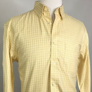 ORVIS-LONG-SLEEVE-YELLOW-PLAID-BUTTON-DOWN-SHIRT-MENS-SIZE-L