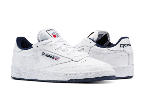 Reebok Uomo Classic Club C White-Navy Shoes
