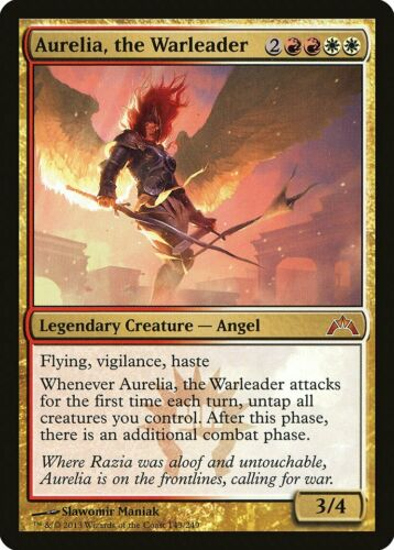 Aurelia the Warleader Gatecrash MINT White Red Mythic Rare MAGIC CARD ABUGames