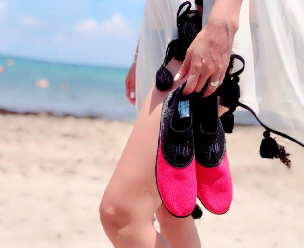 Aqua Chaussures, igui, Eau Chaussures Rose Diamant Noir Eau Chaussures pour femmes (1 paire)