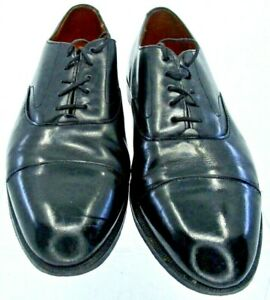 Cole-Haan-Oxfords-Men-039-s-Size-9-5-D-Black-Leather-Cap-Toe-Lace-Up-Dress-Shoes-USA