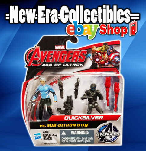 Marvel Avengers Age of Ultron Quicksilver vs Sub-Ultron 009 Action Figure 2-Pack