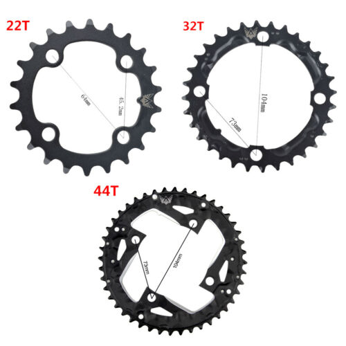 22T//32T//44T MTB Bike Road Bicycle Chainring for Shimano 9 Speed Crank Crank Set#