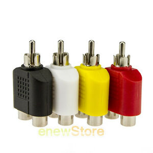 4x-RCA-Y-Splitter-AV-Audio-Video-Plug-Converter-1-Male-to-2-Female-Cable-Adapter