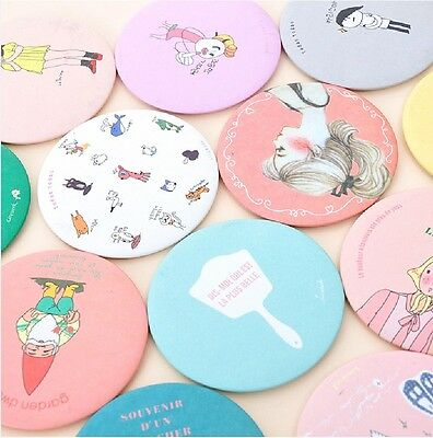 Korean cute Sweet Lovely Small Portable Woman Mirror Cosmetic Round Mirror AB