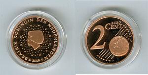 Niederlande  2 Cent  PP/Proof  (Wählen Sie zwischen den Jahrgängen: 1999-2019)
