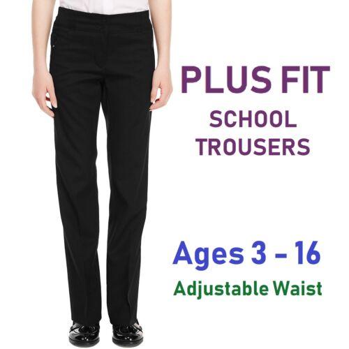 Listers Schoolwear Plus Size Girls School Trousers Black School Uniform