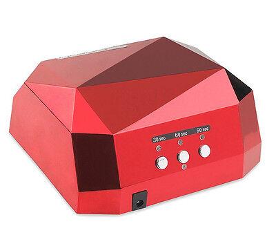 36W LED CCFL Nail Dryer Diamond Shape Curing Machine For UV Gel Lamp Nail Polish