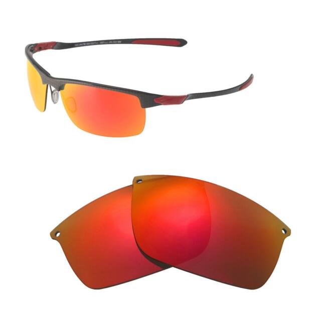 383fde0193 Walleva Fire Red Polarized Replacement Lenses for Oakley Carbon Blade  Sunglasses