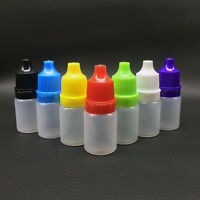 5/10/15ml Empty Squeezable Plastic Dropper Bottles Eye Liquid Screw Cap Lids Hot