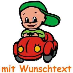 Motiv B302b Mega-Print Sonnenschutz Auto Baby Kinder Sonnenblende mit Wunschtext