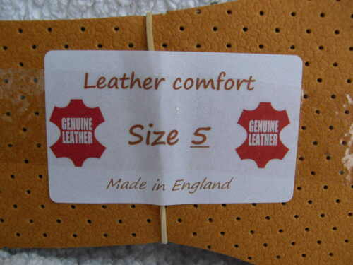 LEATHER INSOLES NO CUTTING INSERTS BOOTS SIZE 3 4 5 6 7 8 9 10 11 12 ODOUR EATER