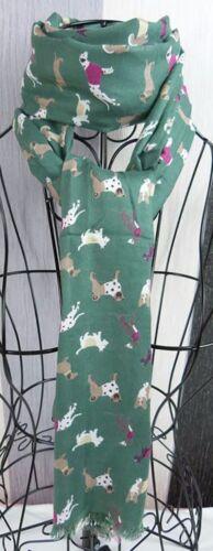 Peony DOGS Animal de la impresión Bufanda Envoltura De Regalo Mamá Hermana amigo presente