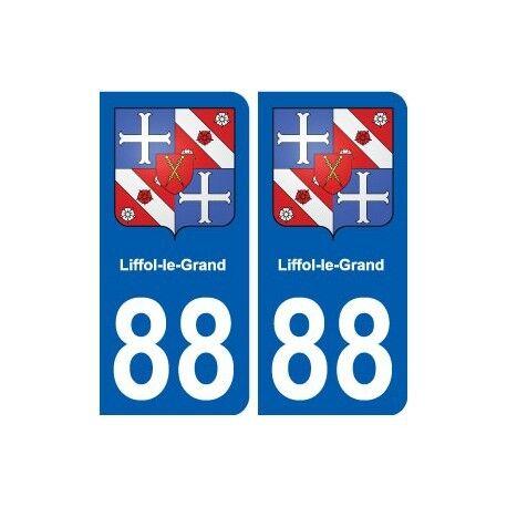 88 Liffol-le-Grand blason autocollant plaque stickers ville arrondis