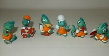 Lot de 6 figurines personnages KINDER Série Drolly DINO Loose